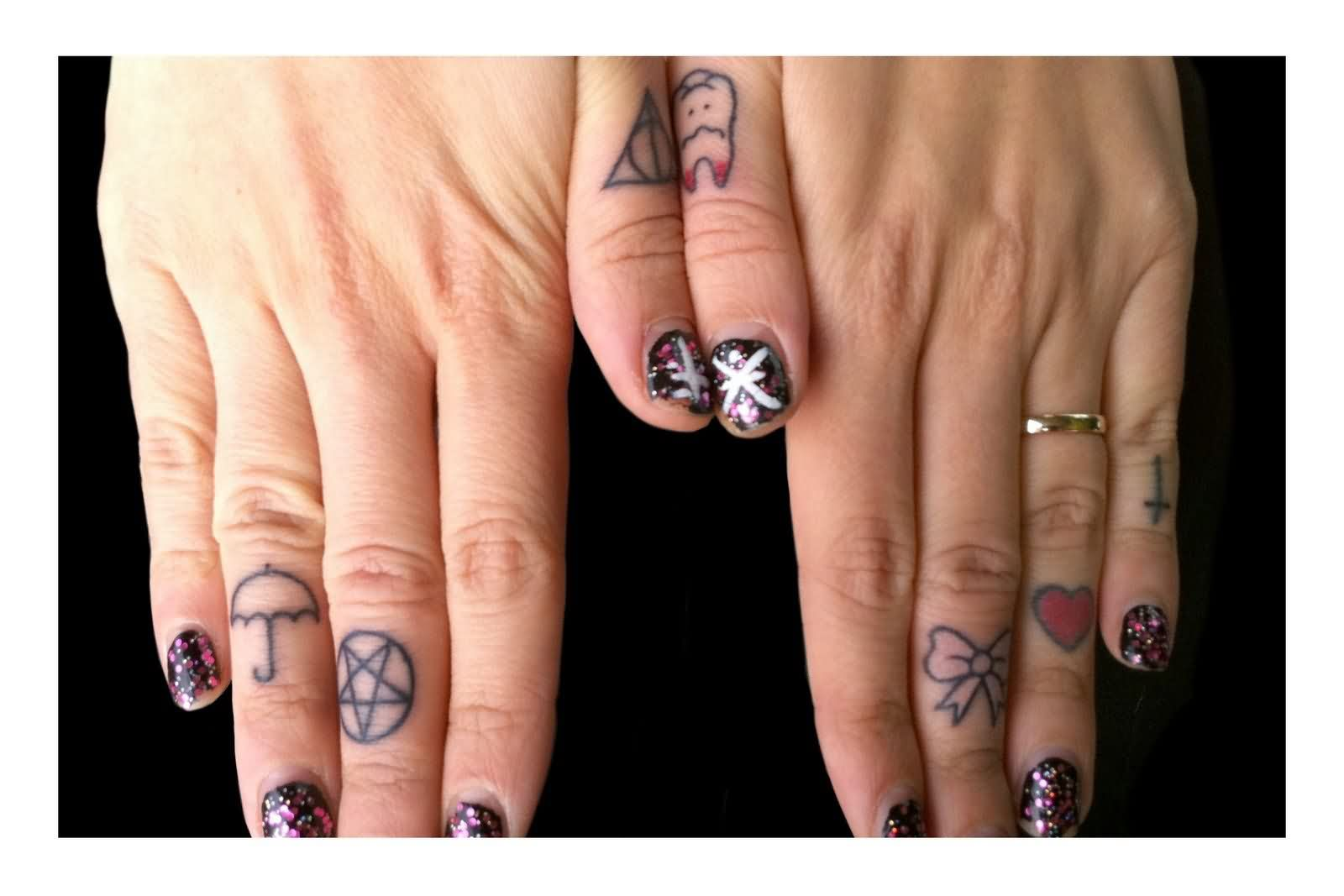 Beautiful Finger Tattoos