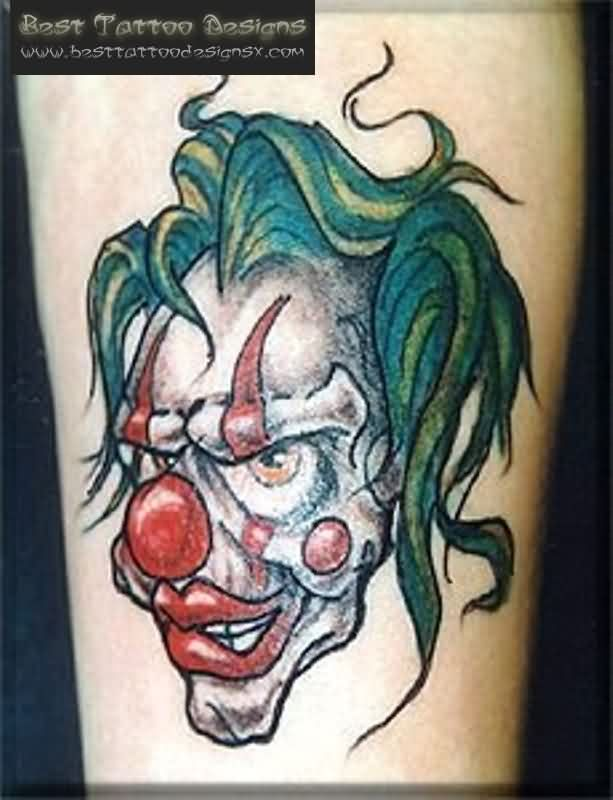 Best Clown Printable Tattoo