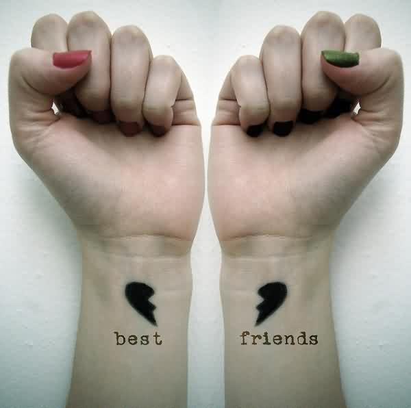 Infinity Tattoo On Wrists For Best Friends