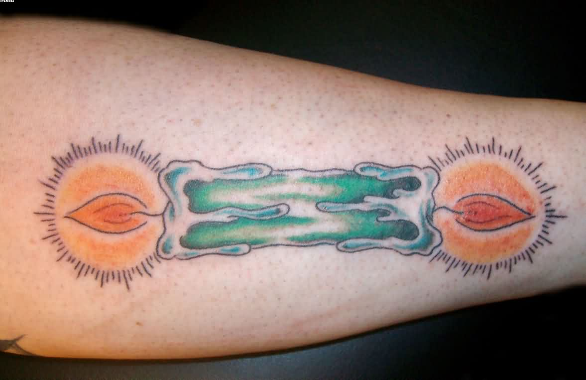 Candle Burning At Both Ends Tattoo