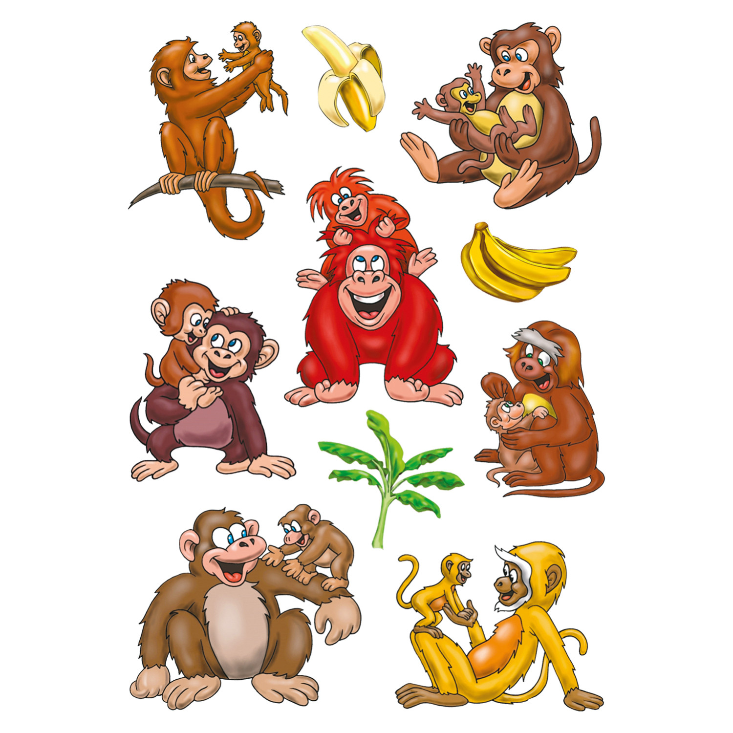 Cartoon Monkey Tattoo Designs