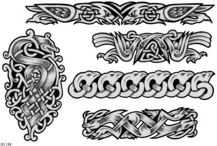 Celtic Tattoo Designs On A White Sheet