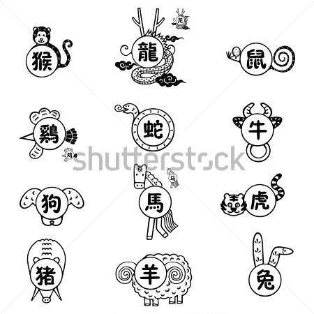 Chinese Zodiac Monkey Tattoo Signs