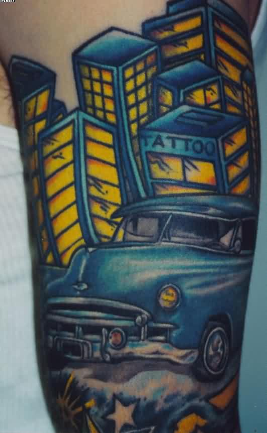 City Car Tattoo