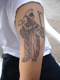 Clown Tattoo On Arm For Guys