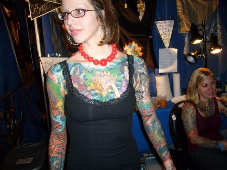 Colorful Full Body Tattoos For Girls