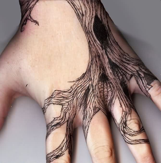 Creative Hand Tattoo