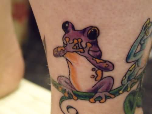 Cute Frog Tattoo