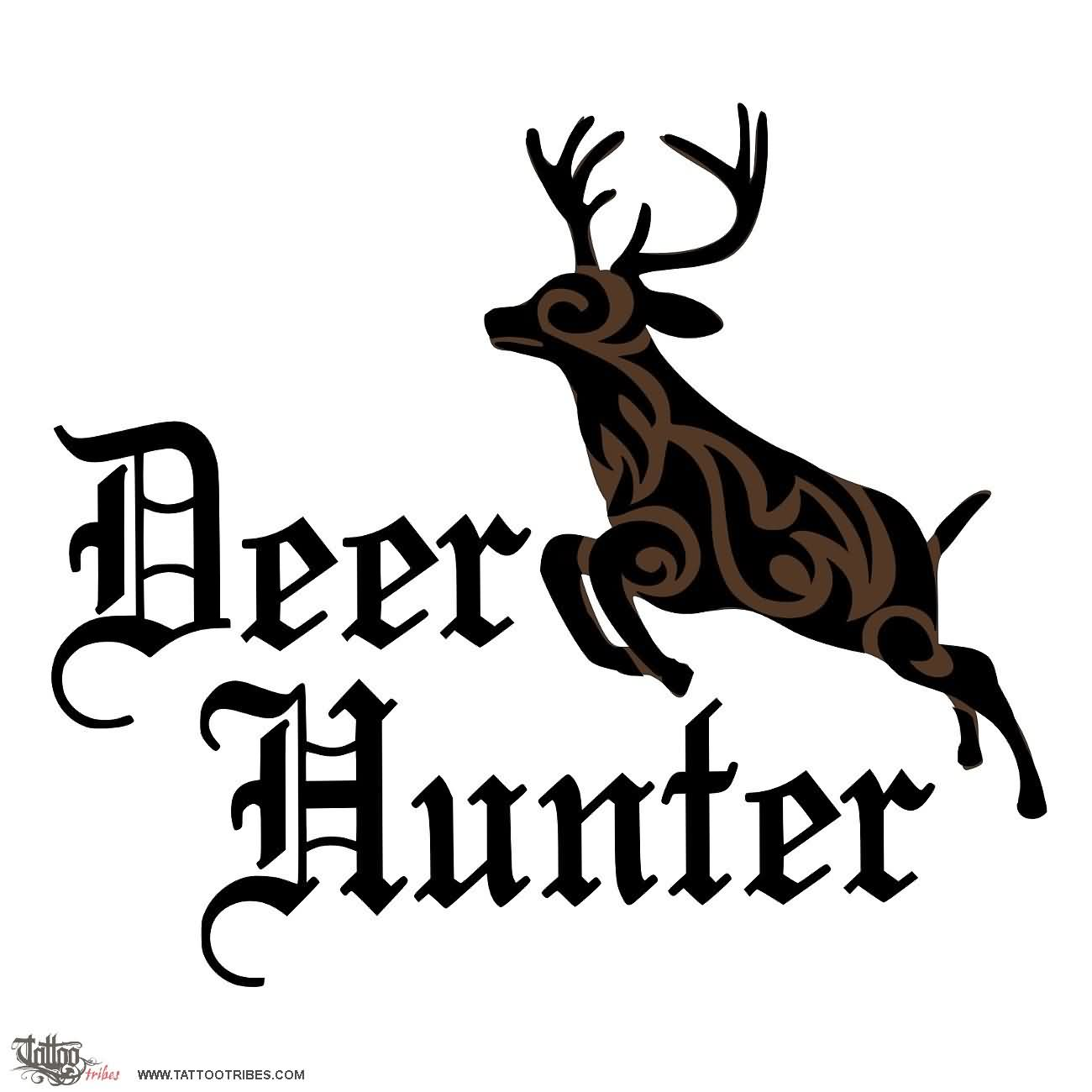 Deer Hunter Tattoo Design