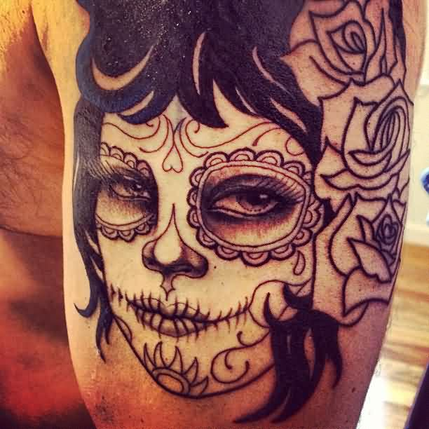 Dia De Los Muertos Tattoo For Men