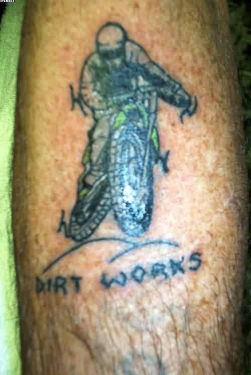 Dirt Bike Tattoo Design
