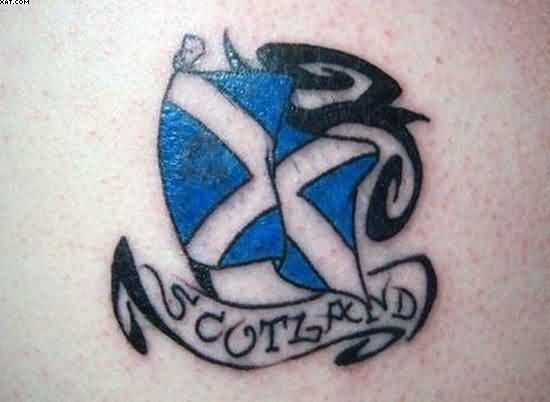 Elegant Scottish Flag Tattoo