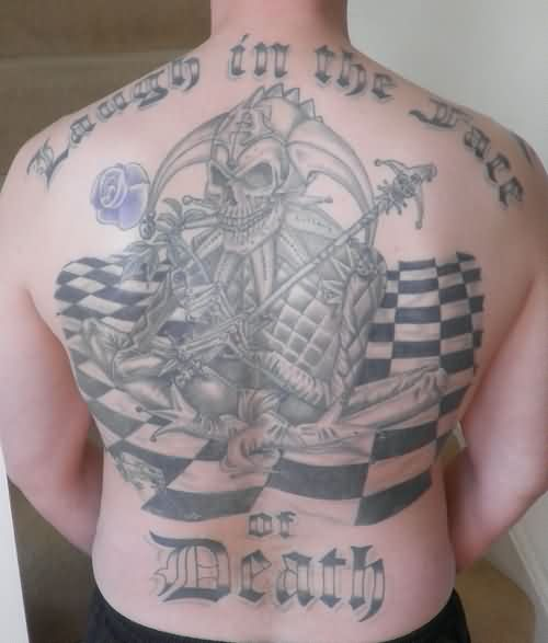 Evil Death Tattoo On Back