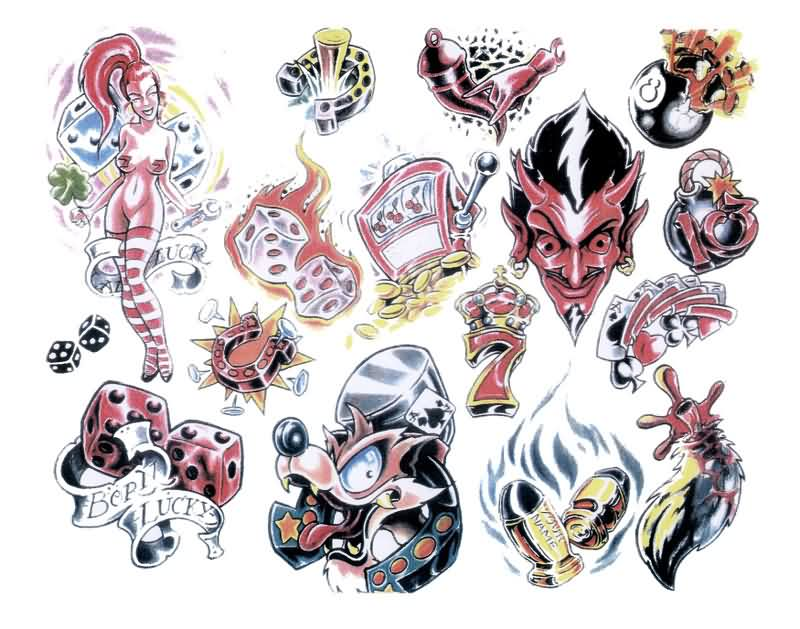 Exclusive Gambling Tattoo Designs