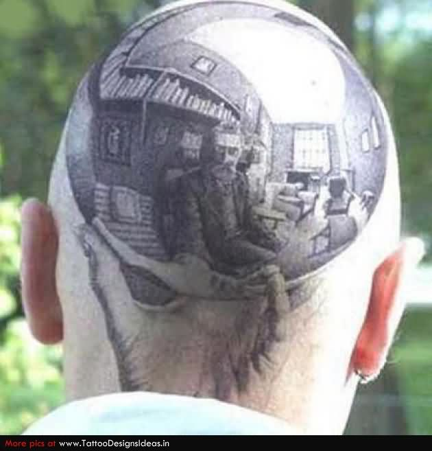 Extreme Head Tattoo