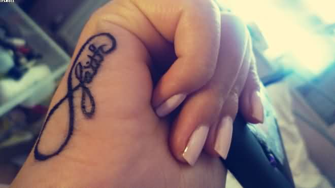 Faith Infinity Tattoo On Hand