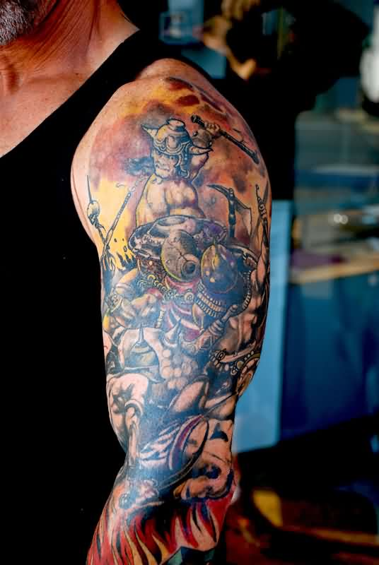 Fantasy Tattoos On Sleeve For Men