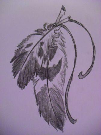 Feather Tattoo Sketch