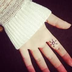 Finger Tattoo For Fashion Girls