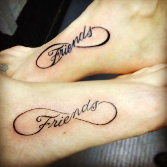 Friends Tattoos On Feet