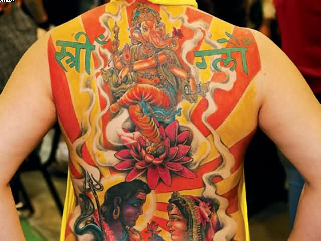 Full Back Hinduism Tattoo