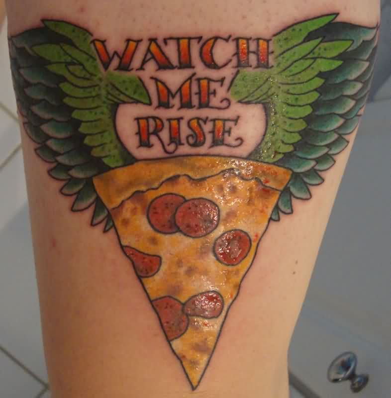 Funny Pizza Tattoo