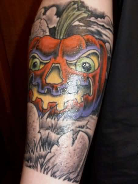 Glowing Halloween Tattoo