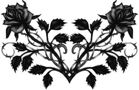 Gothic Black Rose Tattoo Design