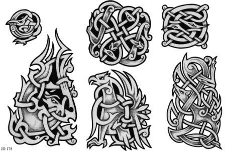Grey Celtic Tattoo Designs