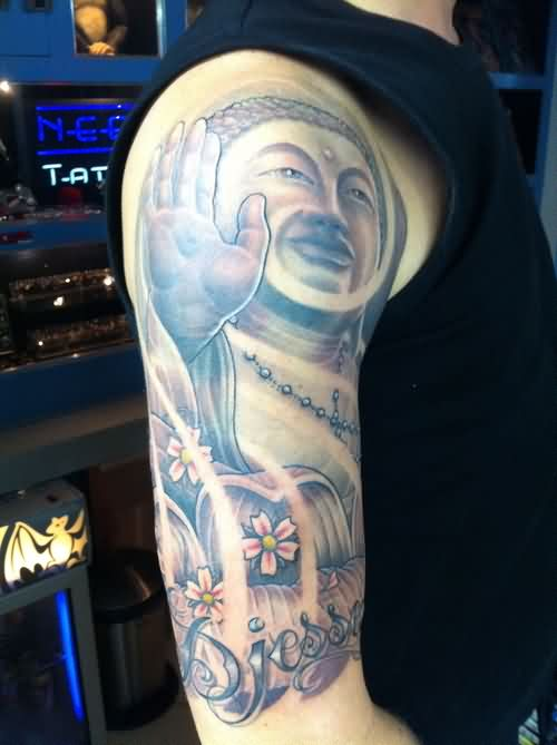 Half Sleeve Religious Tattoo For Men