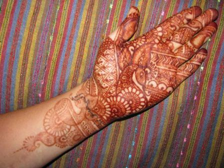 Henna Hand Tattoo Art