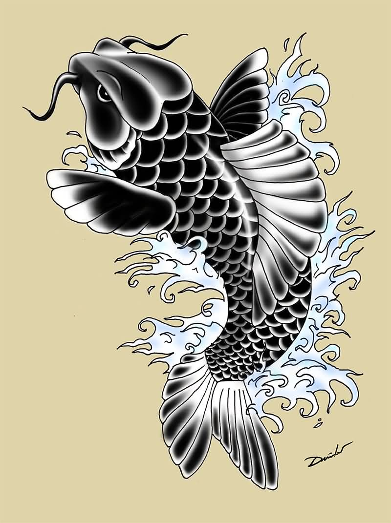 Latest Koi Fish Tattoo Flash