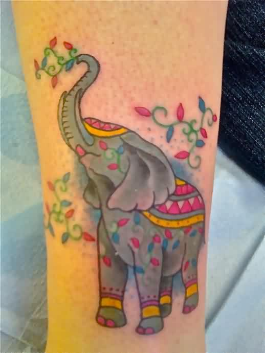 Lovely Elephant Tattoo