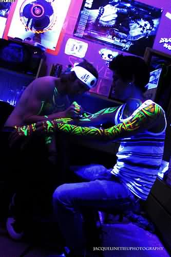 Making Blacklight Tattoos