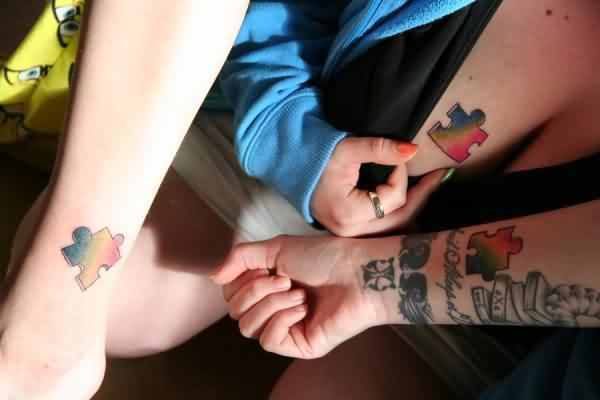 Matching Puzzle Piece Friendship Tattoo