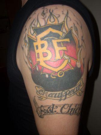 Miscchristmas Firefighter Tattoo On Shoulder