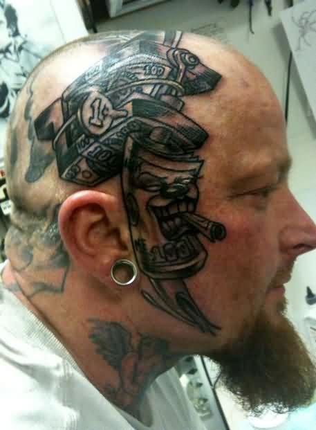 Money Head Tattoo