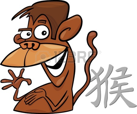Monkey Chinese Horoscope Sign Tattoo Design