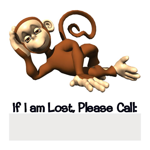 Monkey Lost Temporary Tattoo For Kids