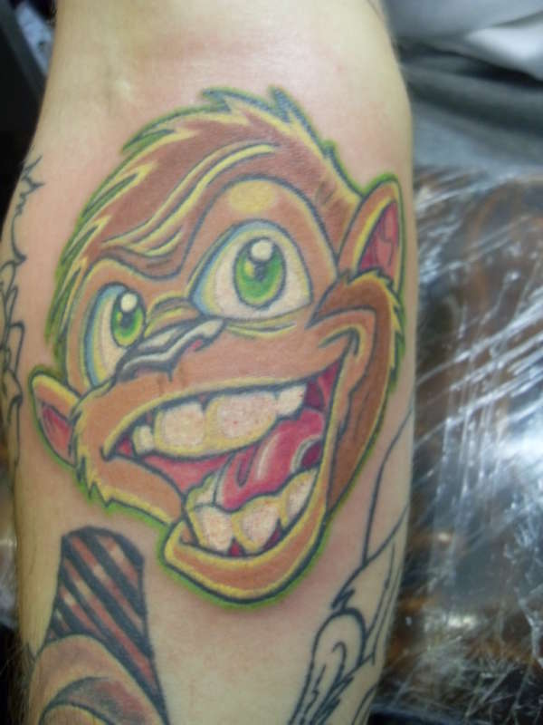 New School Monkey Tattoo