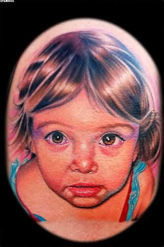Nice Baby Girl Tattoo Design