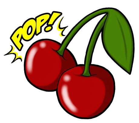Pop Cherry Tattoo Design