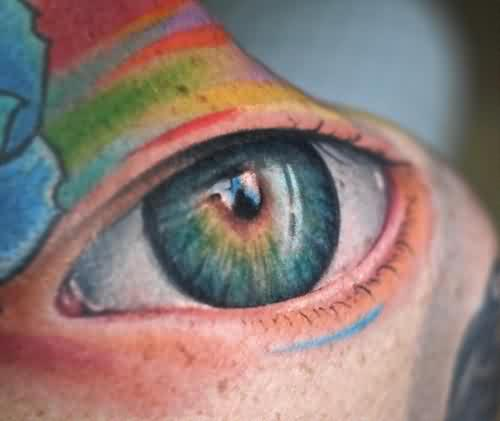 Rainbow Eye Tattoo