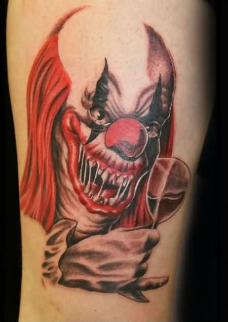 Red Nose Clown Tattoo