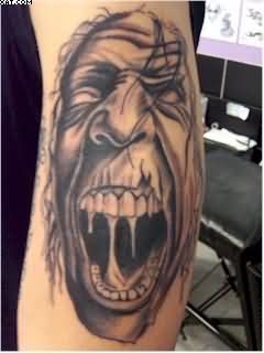 Screaming Zombie Tattoo