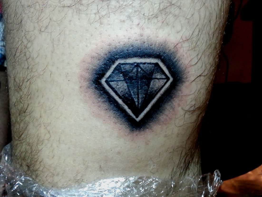 Shaded Diamond Tattoo