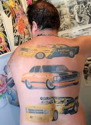Speedy Car Tattoos On Back Body