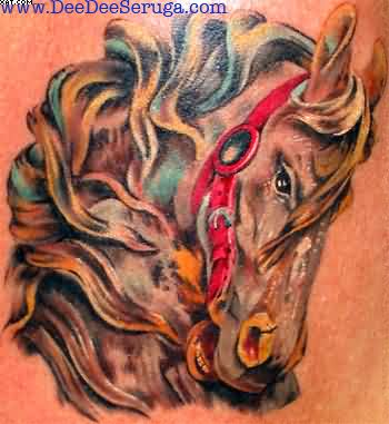 Stallion Horse Tattoo