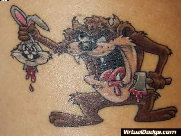 Taz Bunny Tattoo