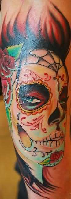 Terrific Dia De Los Muertos Tattoo